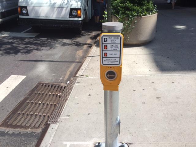 New fancy crosswalk buttons.